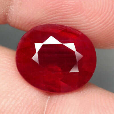 9.09 Ct. Oval Facet Big Natural Ruby Top Blood Red Madagascar Luxurious