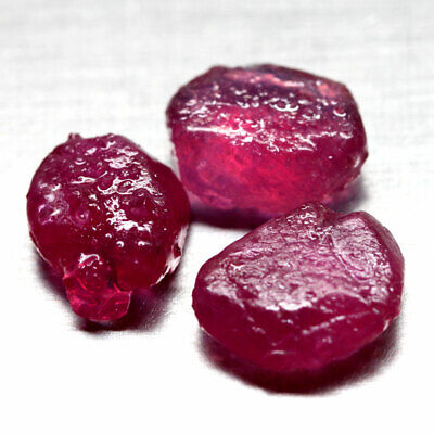 25.72 Ct. Rough Natural Ruby Top Blood Red Madagascar Sparking Lot Free Ship
