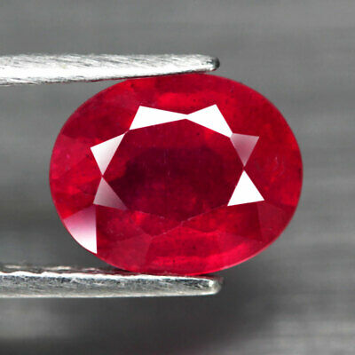 3.66 Ct. Oval Facet Natural Ruby Top Blood Red Madagascar Alluring