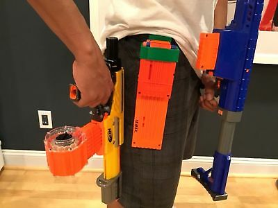 Double Magazine Clip Holder With Belt Loop for Nerf and Worker Mod USA Any Color