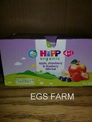 HiPP Organic Fruit Pots 100% fruit Free Ship