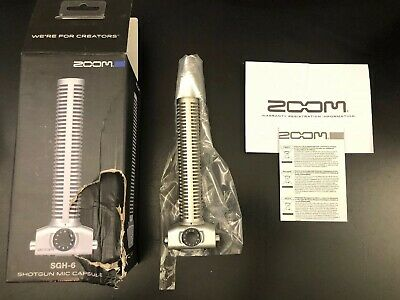Zoom SGH-6 Shotgun Microphone Capsule for H5, H6, Q8, U-44, F4, and F8 - Silver