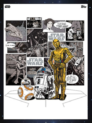 Topps Star Wars Card Trader Saga Comic Collages Bb-8 R2-D2 C-3Po