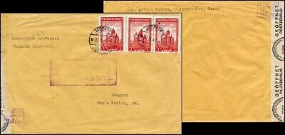 Ge012. German Occupation Of Serbia Cover From Jasenovo 1943 Censored