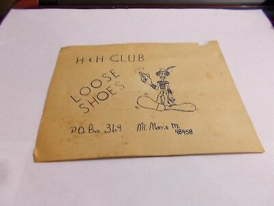 Vintage QSL Card Loose Shoes Mt. Morris Michigan Combined Shipping