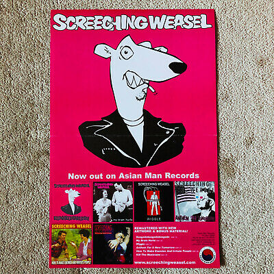 SCREECHING WEASEL 2005 Reissues Original Promo Poster Asian Man Records!!