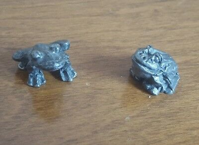 PEWTER FROGS FIGURINE Knick Knacks