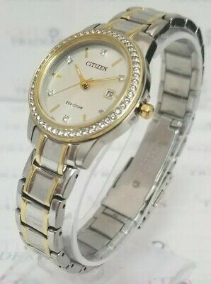 Citizen Eco-Drive FE1174-50A Women's 28mm Crystal Accent Two-Tone S/Steel Watch