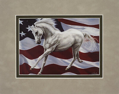 Tribute by Kim McElroy 8x10 double matted art print Horse