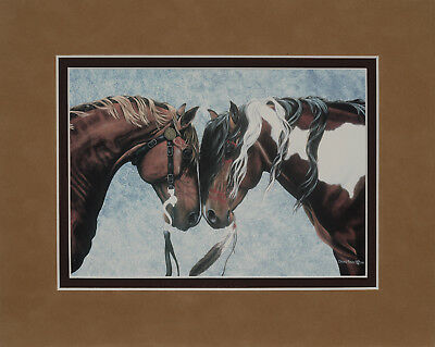 Warriors' Truce by Diana Beach 8x10 double matted art print - horse