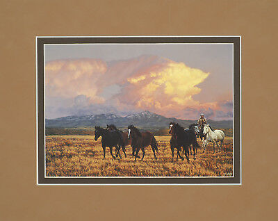 Twilight by Tim Cox 8x10 double matted art print - horses