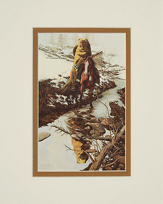Spirit of the Grizzly by Bev Doolittle 8x10 double matted art print