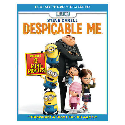 DESPICABLE ME Brand NEW BLU RAY/DVD W/DIGITAL HD w/SlipCase Factory Sealed