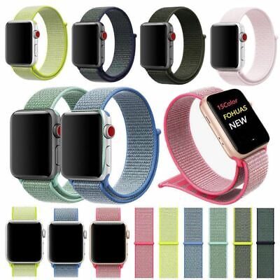 Woven Nylon Band For Apple Watch Sport Loop iWatch Series 4/3/2/1 38 42 40 44mm