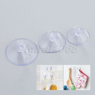 """20pcs Clear Suction Hooks PVC Wall Hooks Hanger Cup Suckers 0.98"""" 1.18"""" 1.38"""""""