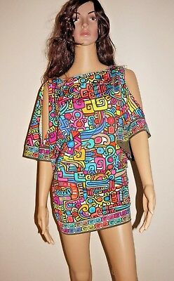 c139fd214174a TRINA TURK MAYA COLD tunic short dress swimsuit cover-up XS S M L  144 SALE!