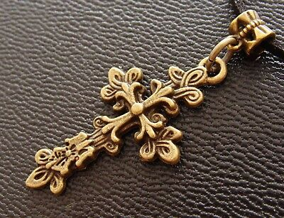 "Cross Pendant - Antique Art Nouveau Style - Byzantine Medieval ""look"""