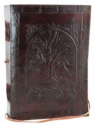 leather journals Fair Trade Tree Of Life Design Leather Journal Diary...
