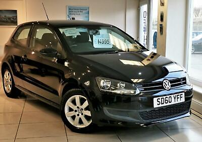 VOLKSWAGEN POLO 60 SE Black Manual 1.2 Petrol 3 Door 2010 Low Mileage 2 Keys