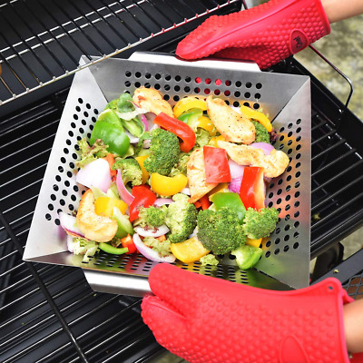 Non-stick Vegetable Grill Basket, Outdoor Grilling Accessories for Grilling Fish
