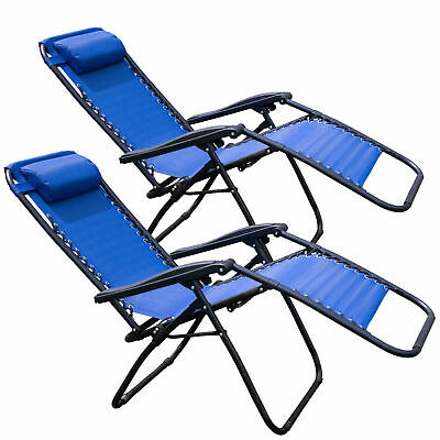 Tahoe Gear Zero Gravity Yard Lounge Patio Lawn Recliner Chair, (2 Pack)