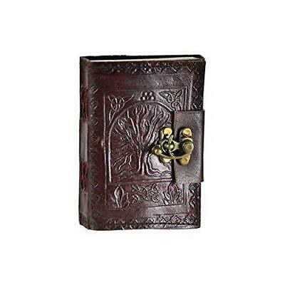 Leather Celtic Tree of Life Book Shadows Blank Spell Wicca ~ by Raven Blackwood