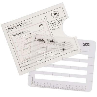 Lettering Envelope Addressing Stencil - Template Ruler Guide for Perfectly...