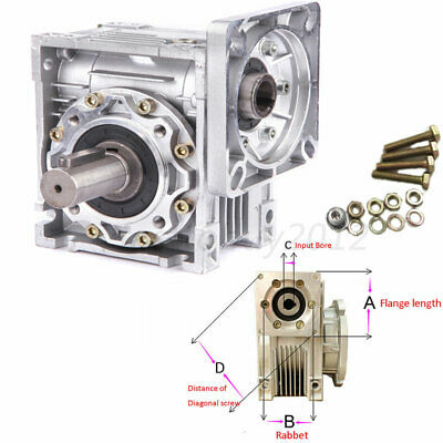 NMRV040 Worm Gearbox 30:1 Geared Speed Reducer for Stepper Motor 60/80/86/90