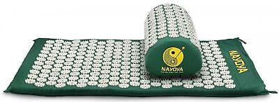 Nayoya Back and Neck Pain Relief - Acupressure Mat Pillow Set - Comes with a...