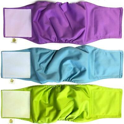 Pet Magasin Luxury Dog Wraps Extra Comfort (3-Pack) - Washable Belly Nappies...