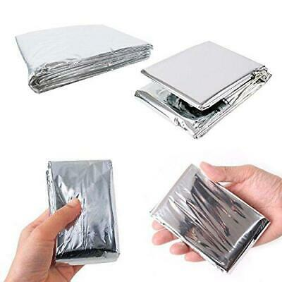 Leberna Emergency Foil Mylar Thermal Blankets 59 x 87 inches (Pack of 10)...