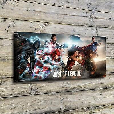 """12""""x28""""Justice league HD Canvas prints Painting Home decor Picture Room Wall art"""