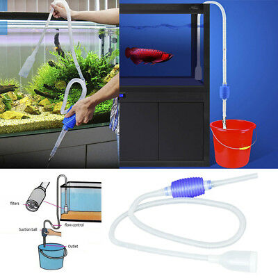 1.4m Aquarium Vacuum Water Change Changer Cleaner Fish Tank Siphon Pump Cleaning
