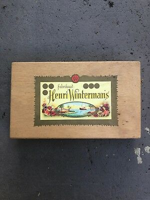 Henri Winterman's Cigar Box With Paper Labels As Shown.