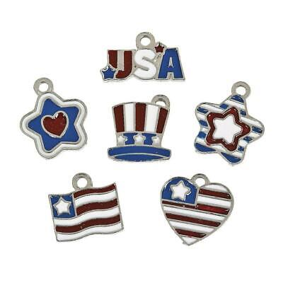 Patriotic Enamel Charms (36 Pieces)