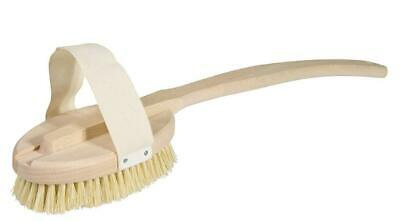 Redecker Bath Brush with Removable Untreated Beechwood Handle and Stiff...