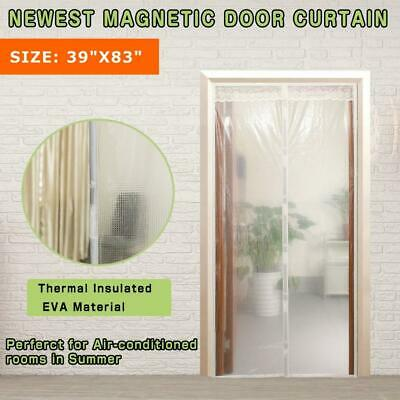 Transparent Magnetic Thermal Insulated Door Curtain Keep Draft And Kitchen...