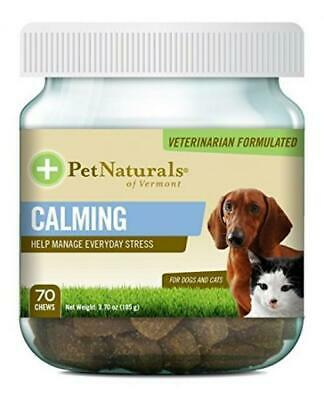 Calming for Cats & Dogs Pet Naturals of Vermont 70 Chewable