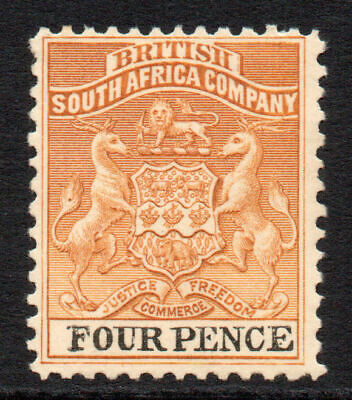Rhodesia 4 Pence Stamp c1895 Mounted Mint