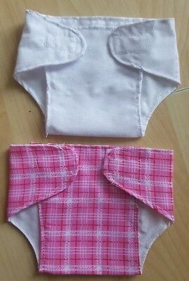 Set of 2 Pink Nappies for 14 - 16 inch Dolls My First Baby Annabell (10)