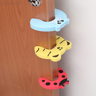 1E22 Baby Safety Protect Anti Hit Guard Lock Clip Edge EVA Animal Door Stopper