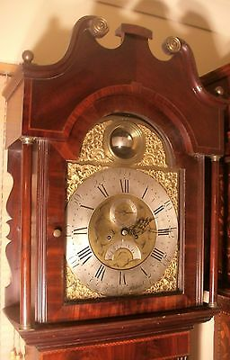 Antique Mahogany  Rotating Globular Ball  Longcase / Grandfather Clock