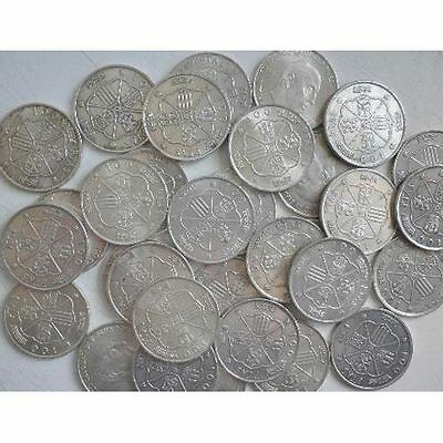 España Spain 10 Monedas 100 Pesetas Franco Inversion En Plata Silver