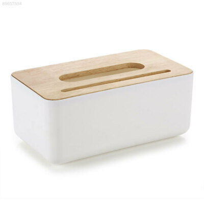 CDAB Wood Storage Basket Tissue Box Home Table Space Saver Sundries Storage