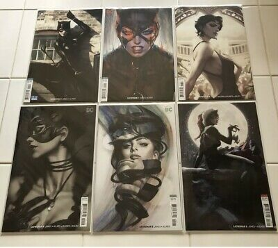 Catwoman 1 2 3 4 5 6. Artgerm variant cover set. All NM