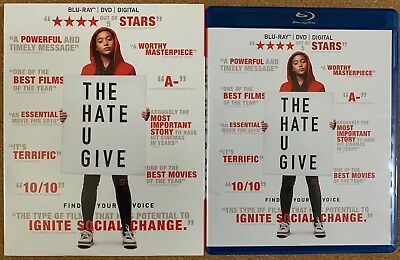 The Hate U Give Blu Ray Dvd 2 Disc Set + Slipcover Sleeve Free Shipping Buy It