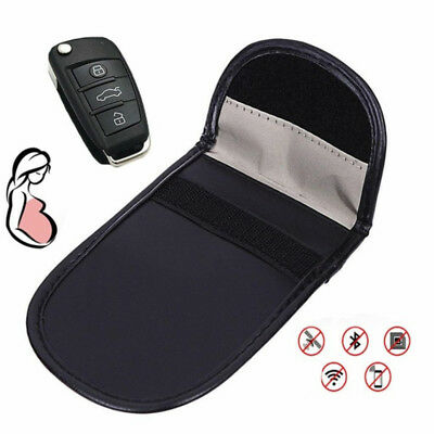Car Key Signal Blocker Case Faraday Cage Fob Pouch Keyless RFID Blocking Bag ES