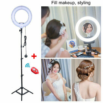 12 Inch Studio 35W 5500K Fluorescent Ring Light with 200cm Stand Photo Video UK