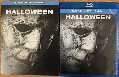 Halloween 2018 Blu Ray Dvd 2 Disc Set + Slipcover Sleeve Free World Shipping
