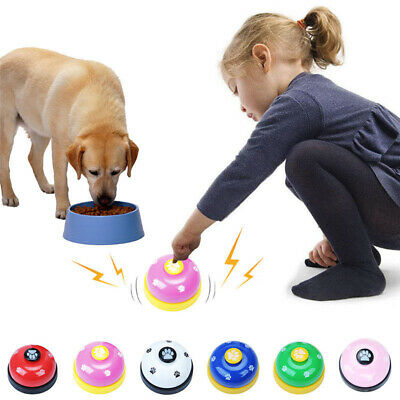 Pet Puppy Dog Cat Training Bells Foot Print Sounds Meal Bell Potty Tools Gift
